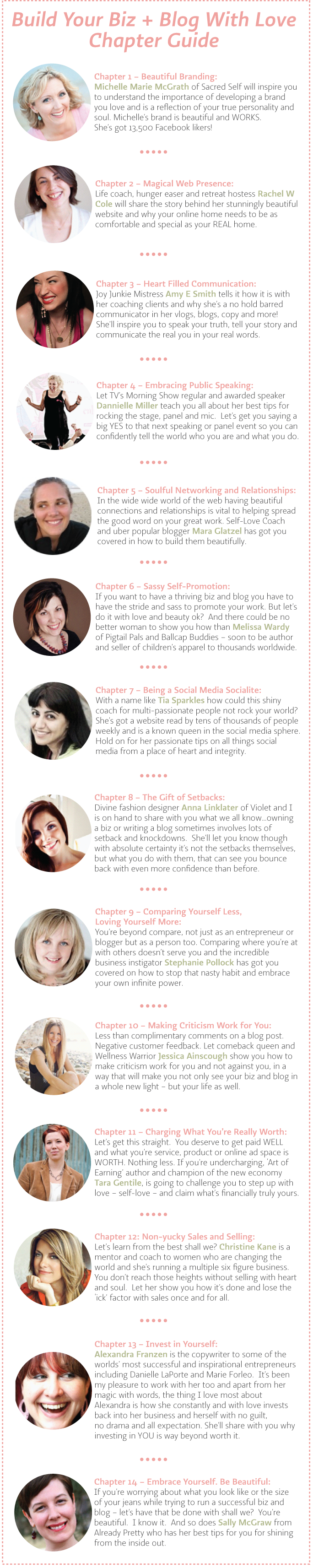 Build Your Biz + Blog With Love Chapter Guide