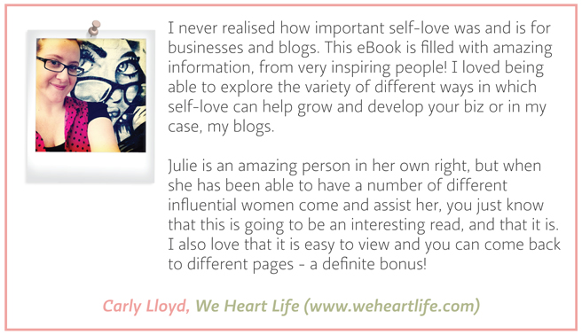 Testimonial - Carly Lloyed - We Heart Life