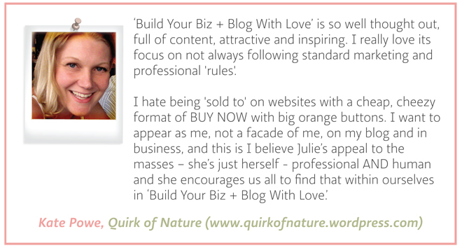 Testimonial - Kate Powe - Quirk of Nature
