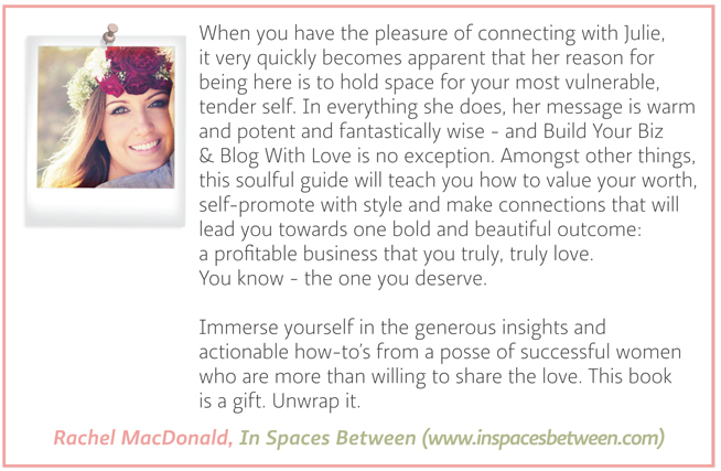 Testimonial - Rachel MacDonald - In Spaces Between