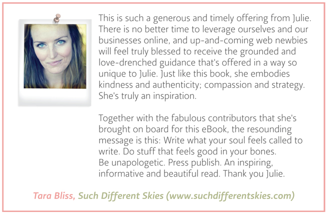 Testimonial - Tara Bliss - Such Different Skies