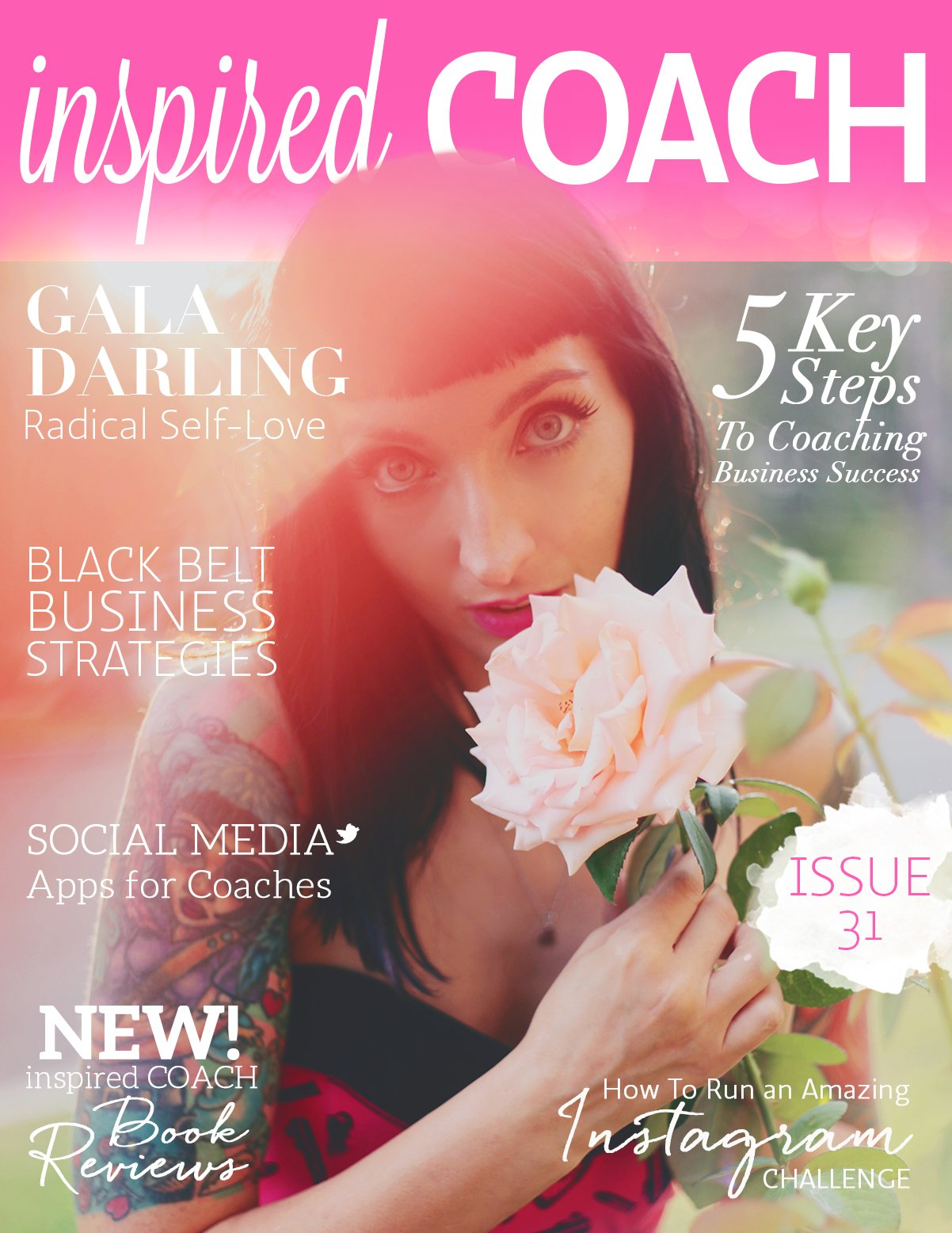 inspired COACH magazine with Gala Darling